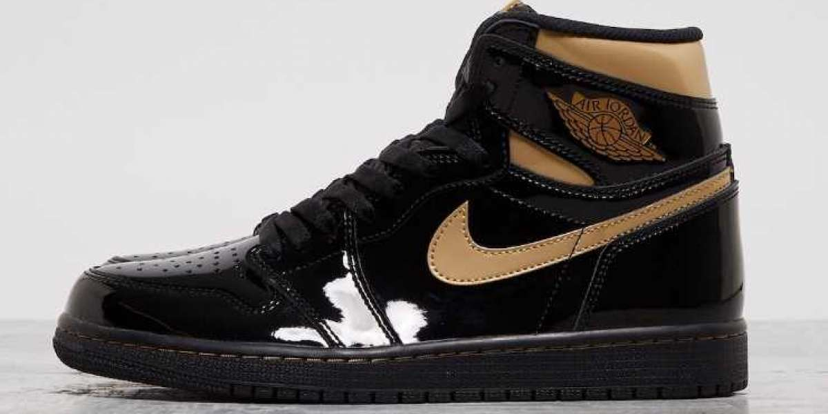 2020 Air Jordan 1 High OG Black Metallic Gold Online Sale