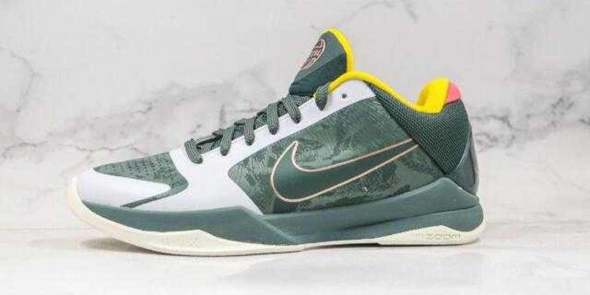 2020 New Brand Nike Zoom KOBE 5 Green Grey for Sale