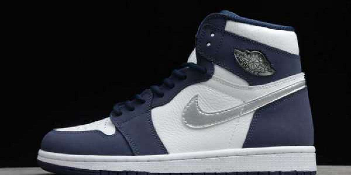Air Jordan 1 White/Midnight Navy-Metallic Silver DC1788-100 Release Date