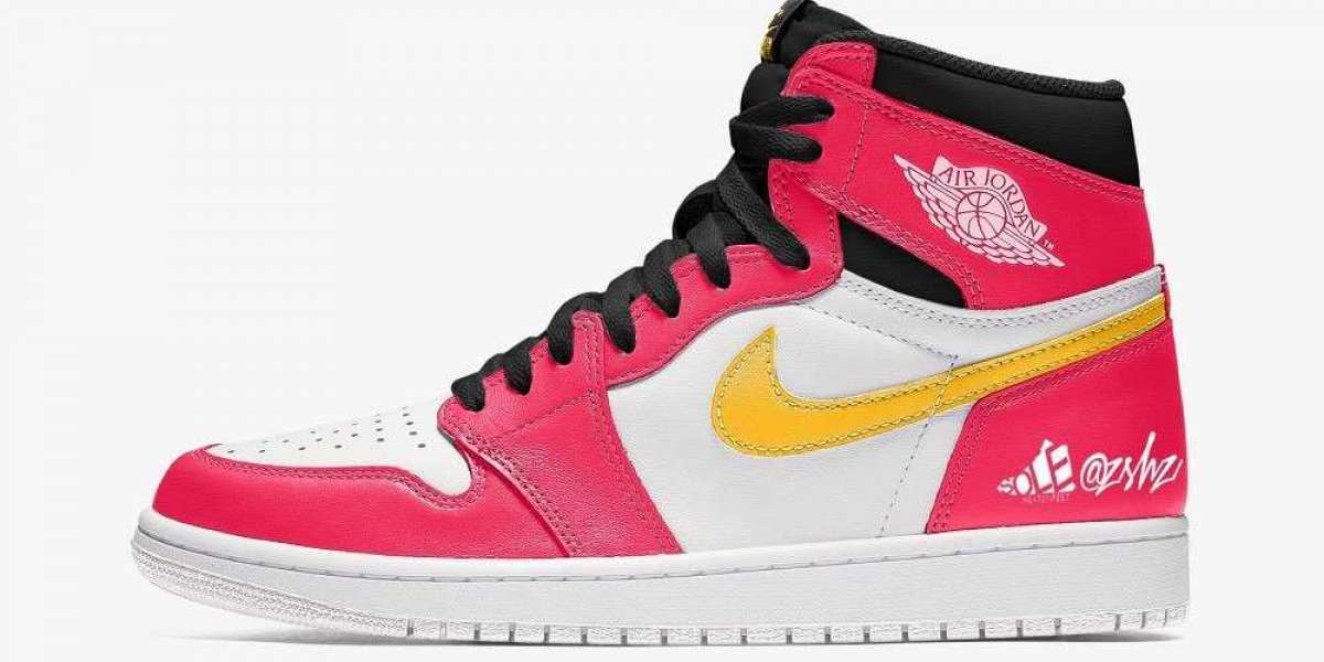 """Aj 1 High OG """"Light Fusion Red"""" 555088-603 will be released in spring 2021"""