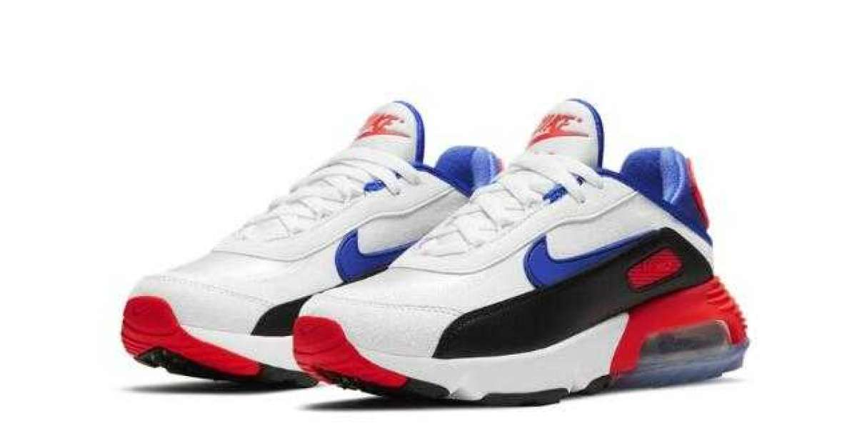 New Arrive Nike Air Max 2090 White Black Blue Red Running Shoes