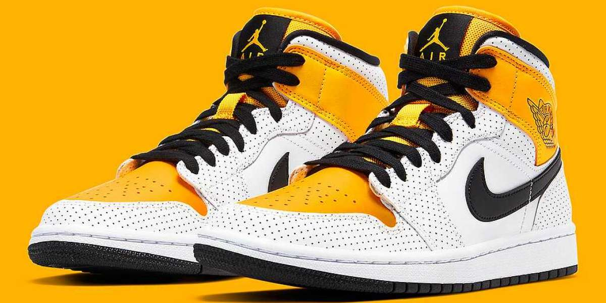 2020 Classic Air Jordan 1 Mid With Laser Orange CV5276-107 Outlet Online